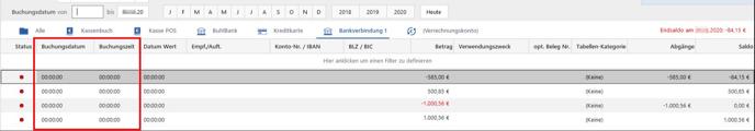 Bankingimport - Lösung1 Bild2