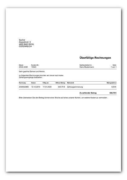 Mahnungen Kundenkonten (BizDesign)_faq