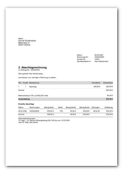 Rechnung mit Abschlagsauflistung_faq